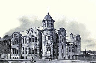 Hawick Library - This is a 1902 drawing by John Nichol Scott of his design