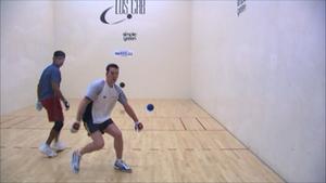 Irish Collegiate Handball Association - Tony Healy attempts a backwall shot in the semi-finals of the 2006 Simple Green U.S. Open of Handball