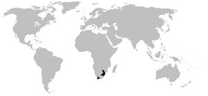 Ghost frog - Image: Heleophrynidae range