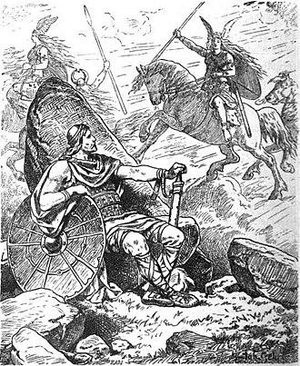 "Helgi Hundingsbane - ""Helgi and Sigrun"" (1901) by Johannes Gehrts."