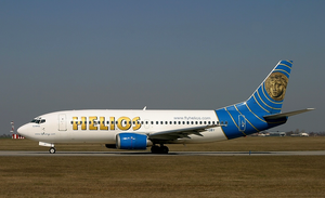 Helios Airways Flight 522 - 5B-DBY, the aircraft involved in the accident, at Prague Airport in March 2005.