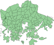 Position of Marttila within Helsinki