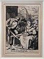 Hendrick goltzius e jan pietersz. saendram, mezzogiorno, dalle serie delle ore del giorno, 1595-1600 ca.jpg