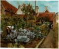 Henri de Braekeleer - A Flemish kitchen garden.tiff