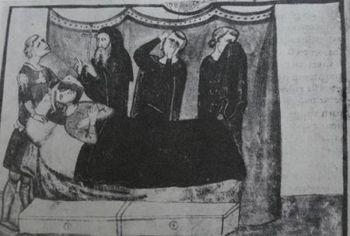 The death of Henry VII in Buonconvento, Giovanni Villane