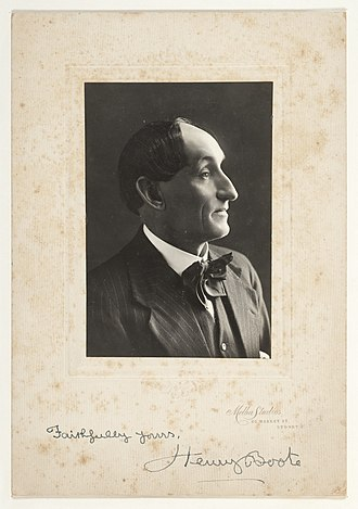Henry Ernest Boote - Signed photograph of Henry Boote, circa 1920.
