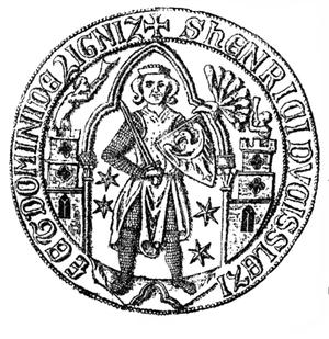 Henry V, Duke of Legnica - Henry V's seal, dated to 1289