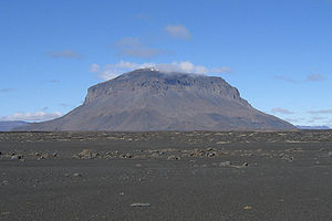 Hans Reck - Herðubreið volcano in Iceland