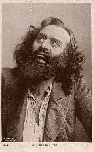 Trilby (play) - Herbert Beerbohm Tree as Svengali in the London production (1895)