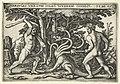 Hercules verslaat de Hydra van Lerna Hercvles vna cvm iola hydram occidit (titel op object) Werken van Hercules (serietitel), RP-P-OB-10.808.jpg