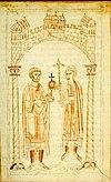 Herrschaftsübergabe von Heirich IV. an Heinrich V