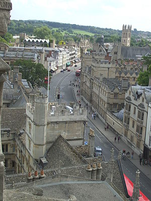 High Street, Oxford - The High Street from St Mary's, looking east