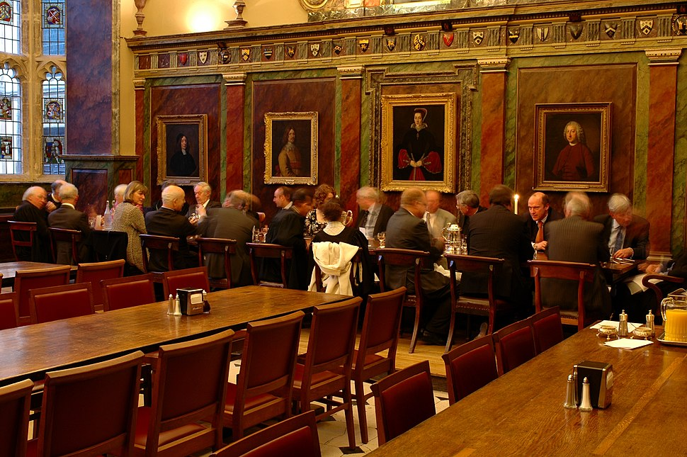 High table at trinity college oxford