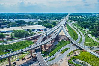 Wisconsin Highway 29 - Flyovers completed at WIS 29-US 41 interchange in 2014 as part of the US 41 project
