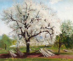 HILL Carl Fredrik Det blommande fruktträdet 1877