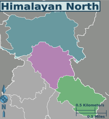 Himalaya India Map.Himalayan North Travel Guide At Wikivoyage