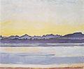Hodler - Genfersee mit Mont-Blanc vor Sonnenaufgang - 1918.jpeg