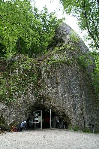 Hohle Fels - The entrance of the Hohle Fels cave
