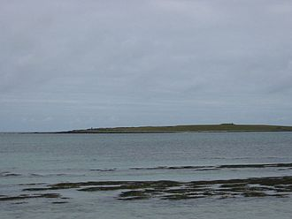 Holm of Papa - Holm of Papa, viewed across South Wick, from Papa Westray
