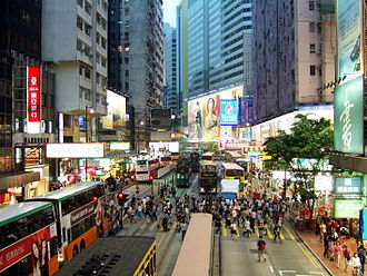 Causeway Bay - The busy Yee Wo Street crossing