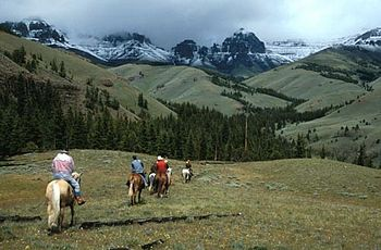 Horseback riding in Greybull Ranger District