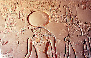 Ra - Ra and Amun, from the tomb of Ramses IV.