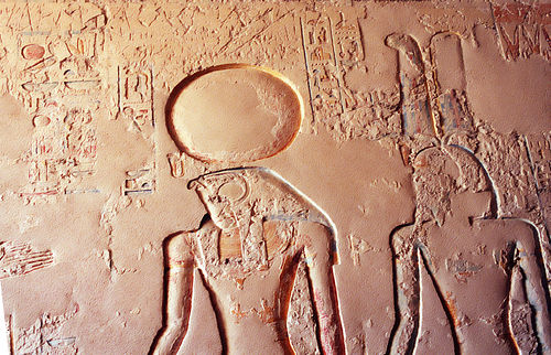 Ra and Amun, from the tomb of Ramses IV. Horus and Amon - Ramses IV tomb.jpg