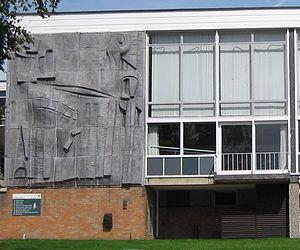 Bodington Hall - Hubert Dalwood mural, 2009