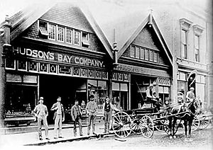 the founding and history of the hudsons bay company Hudson's bay company: hudson's bay company, corporation that occupies a prominent place in both the economic and the political history of canada it was.