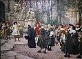 Hugo Vogel - Empfang der Refugies (Hugenotten) durch den Großen Kurfürsten im Potsdamer Schloss, 1885.JPG