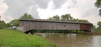 Hunsecker's Mill Covered Bridge - Image: Hunsecker's Mill Covered Bridge Wide Side View 3000px