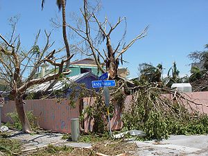 Captiva Island - Damage on Captiva Island from Hurricane Charley