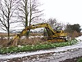 Hy-Mac digger parked beside the road - geograph.org.uk - 1658505.jpg