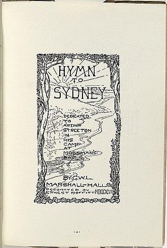 Sydney artists' camps - Image: Hymn to sydney Moffitt 1899