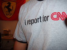 """i report for CNN"" T-shirt."
