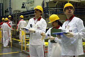 IAEA's Safeguard inspectors at Mochovce nuclea...