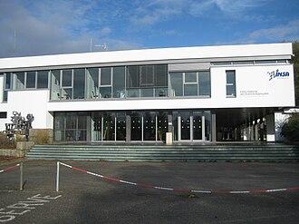 Institut national des sciences appliquées de Rennes - Entrance building of the school