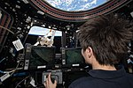 ISS-43 Samantha Cristoforetti guides the Canadarm2 from the Cupola.jpg