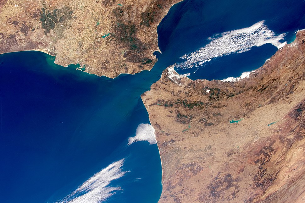 ISS-44 Strait of Gibraltar
