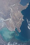 ISS-55 Caspian Sea and the western coast of Kazakhstan.jpg