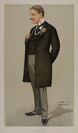 Ian Malcolm (politician) - Malcolm as caricatured by Spy (Leslie Ward) in Vanity Fair, May 1898
