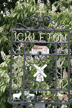 Ickleton - Wrought iron village sign