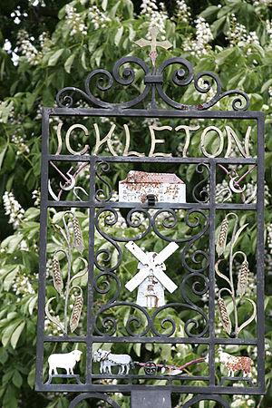 Ickleton - Wrought iron village sign