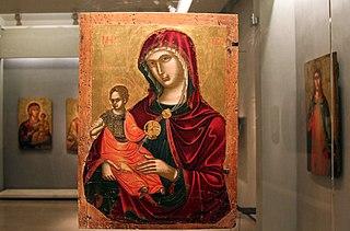 Παναγία Madre della consolazione (περ. 1500) Βυζαντινό Μουσείο Αθηνών