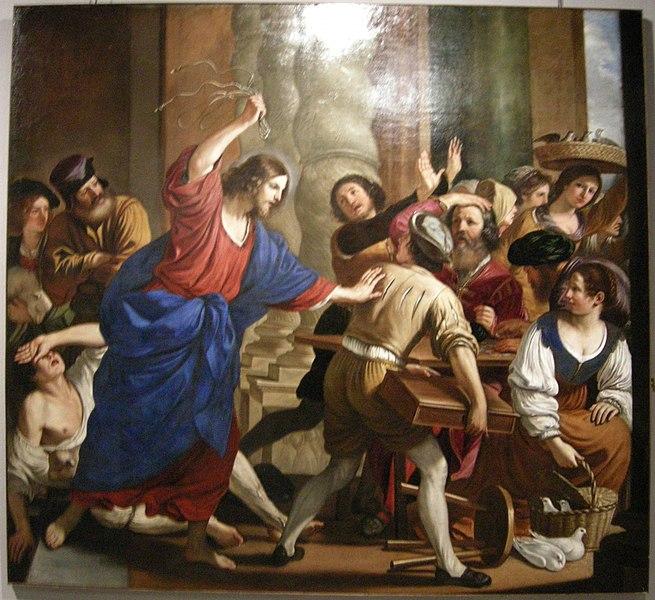 File:Il guercino e bartolomeo gennari, cacciata dei mercanti dal tempio.JPG