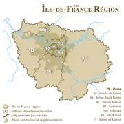 Departments of Île-de-France