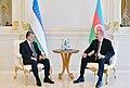 Ilham Aliyev met with President of Uzbekistan Shavkat Mirziyoyev, 2019 03.jpg