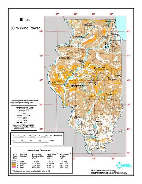 FileIllinois wind resource map 50m 800jpg Wikimedia Commons