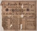 Illustrated family record (Fraktur) found in Revolutionary War Pension and Bounty-Land-Warrant Application File... - NARA - 300072.tif