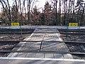 Ilonatelep HÉV station, crossing, 2019 Cinkota.jpg
